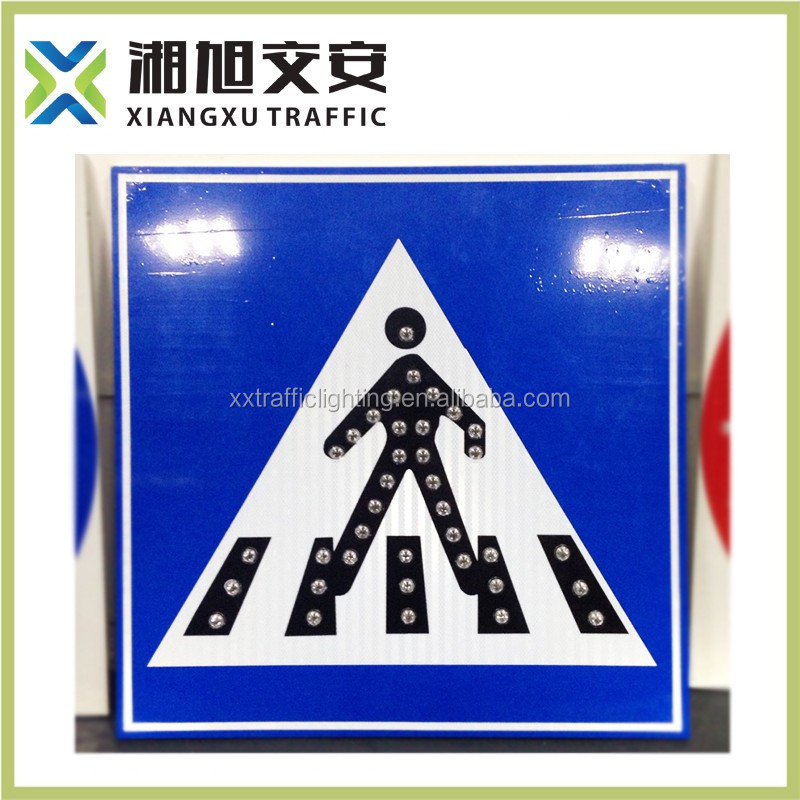 Changsha LED traffic sihn amber color LED message sign LED warning traffic board/road traffic sign of China manufacturer