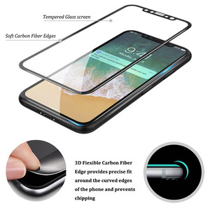 Full Cover Soft Edge 3D Curved Carbon Fiber screen protector tempered glass film for iphoneX LCD cell phone screen protector