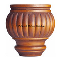 Wood Carved Reeded Bun Foot CBF-14
