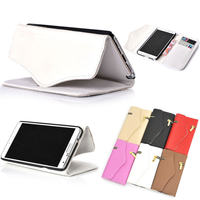 Zipper Zip Envelope Purse Flip PU Leather Card Wallet Case Cover For note 3