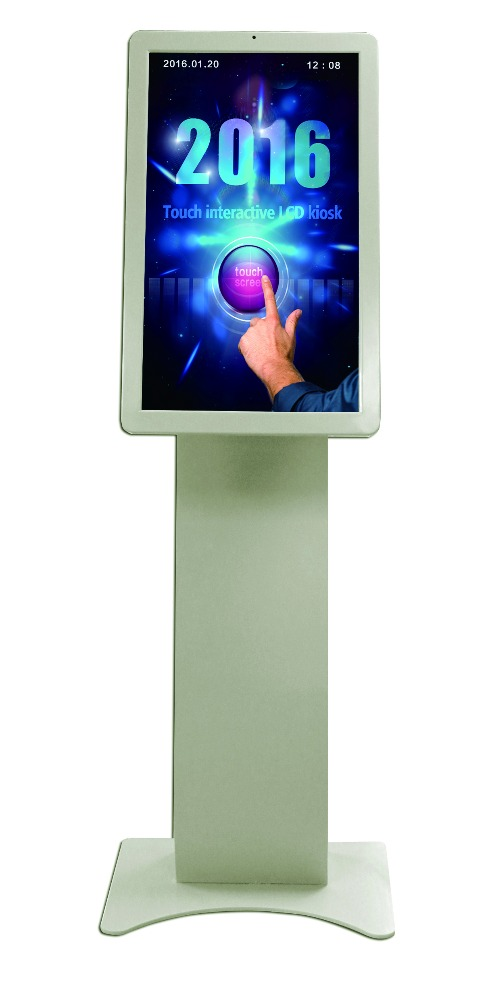 32inch Cell phone store advertising digital signage information touch kiosk