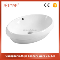 JETMAN Chinese hand counter top bathroom art ceramic hand wash sink