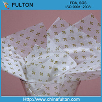 Customized logo wrapping tissue paper price/Hangzhou Fulton tissue paper wholesale/tissue paper for garment