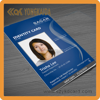 125khz blank plastic pvc id card with rfid chip for id card printer
