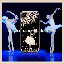 2014 fashion mobile rhinestone phone case for iphone 4,so beautiful