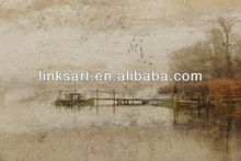 new product oil paintings impression Dim street landscape