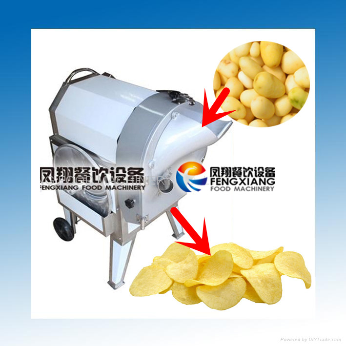 FC-312 Electric Automatic Commercial Potato Chips Slicer Machine (MOB:86-18902366815)
