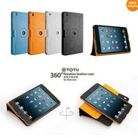 Crazy-horse Pattern Stand Cover 360 Degrees Rotating Leather Case For iPad Mini