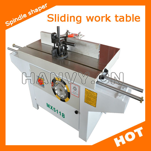 Sliding table spindle wood shaper machine / spindle milling machine MX5118