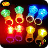 13years factory supply finger ring flashing led light party decor cheap promotional gift plastic led light finger ring