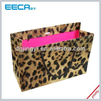 Leopard grain paper pattern for shopping bag handle grip made in China