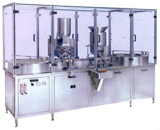 Automatic Injectable Dry Powder Filling With Pick & Place Type Rubber Stoppering Machine