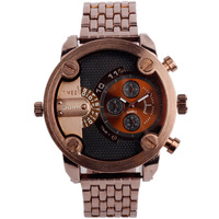 Luxury Brand Relogio Masculino Male Leather Strap Watches Oulm 3130 Men Quartz Watches Fashion Military Male Clock