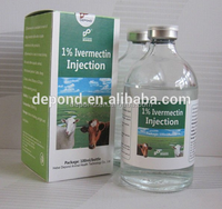 2016 hot sale product Ivermectin injection 1% antiparasite drug(animal medicine)