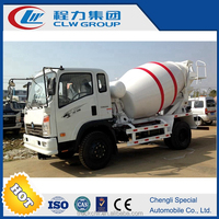 Small mobile concrete mixer, concrete mixer drum