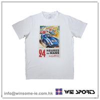 Factory price customized Mens 100% cotton retro print short sleeve racing souvenir t shirt