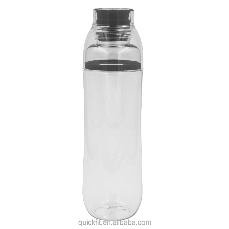 23 OZ Plastic and Silicone Blue Sport Water Bottle - BPA Free, Rugged Tumbler