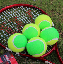 2017 Hot Sale Green Chemical Fiber Promotional Mini Training Tennis Ball For Young