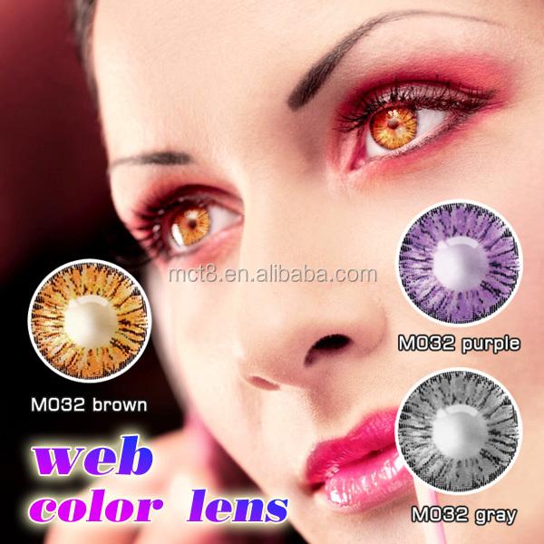 Chestnut brown cat eye contact lenses