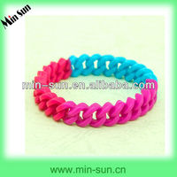 Multiple Color Soft Elastic Comfortable Silicone Hollow Bracelet