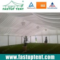 Large Aluminum Frame Party Tent for sale with linings and curtains