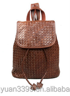 Genuine Leather Backpack for Teenage Girls Topgood Brand Leather Backpack