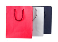 High quality Imitation leather paper bag with nylon rope and base card