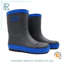 Top Quality Factory Price Black Base Lady Short Rubber Rain Boots