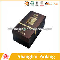 Flat shipping rigid cardboard red wine paper packaging wholesales