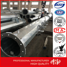 Hot Dip Galvanized Power Transmission Line electric Steel Tubular Pole