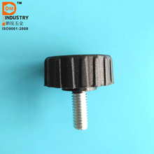 M6 China Black Plastic Round Head Knurled Knob Thumb Screw