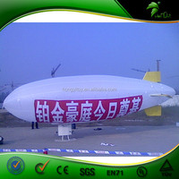 Giant Outdoor Inflatable RC Blimp Airship Advertising White Inflatable Airplane With Logo