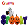 Halloween inflatable ,Halloween ghost detector pumpkin door light led