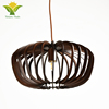 Modern Black Natural Wood Chandeliers Pendant Lights
