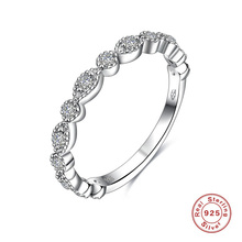 2017 New Fashion Jewelry 925 Sterling Silver Cubic Zircon Ring for Women