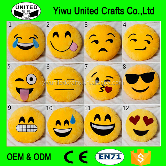 Emoji Smile Emoticon Cushion, cheap custom plush dolls,Emoji Pillow