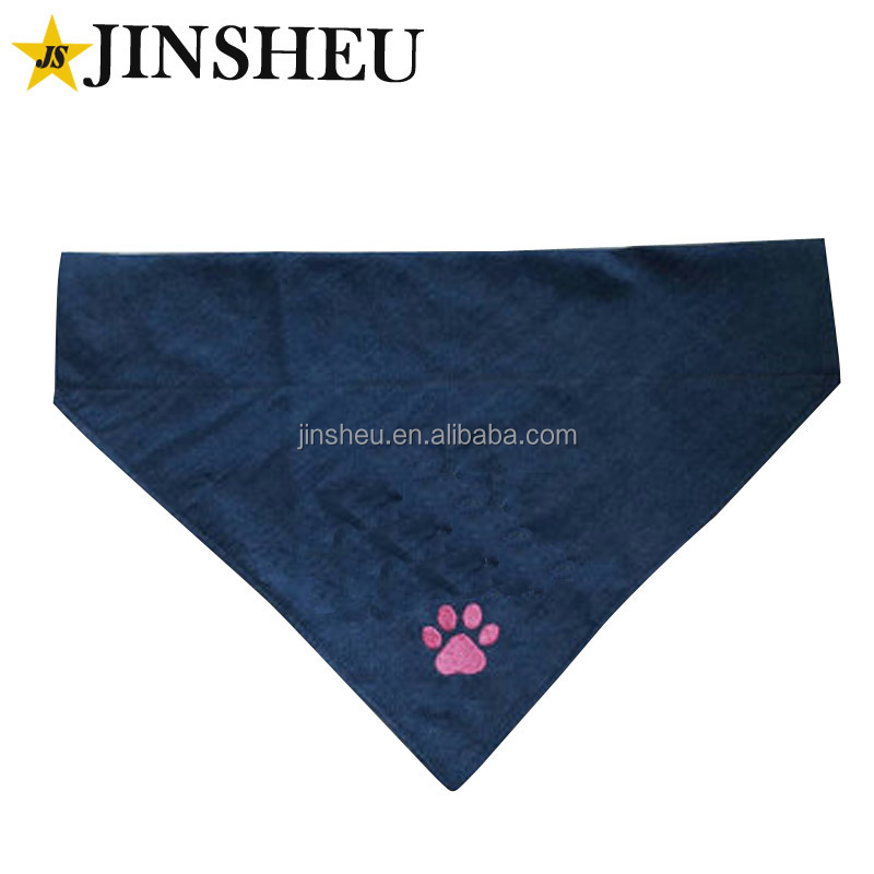 Charity Adopt Puppy Bandana Custom Logo Embroidered Pet Scarf