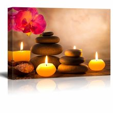 Wall Art Print Spa Zen Stone Orchid Stretched Canvas Painting Picture Decoration