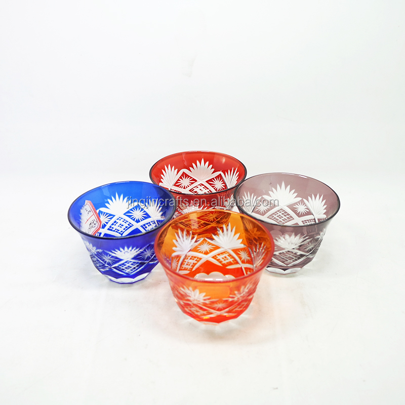 150ml Hot Sale Colored Engraved Glass Tumbler