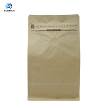 Customized zipper square bottom paper bag With valve