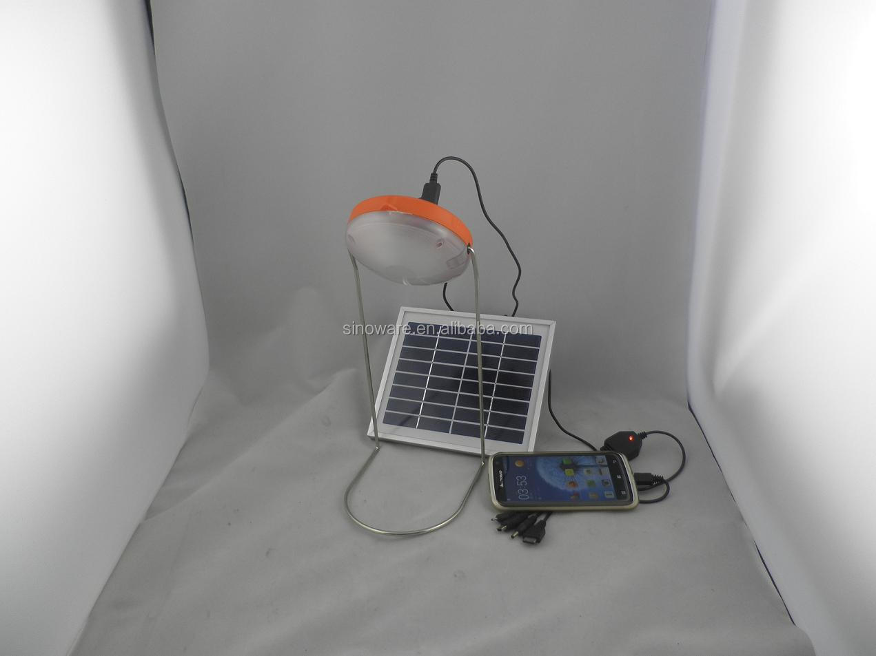 Portable Solar Reading Lamp/Solar Desk Lamp with USB mobile chargers,More than 270LM