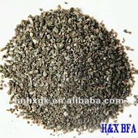 Brown corundum used as refractory materials