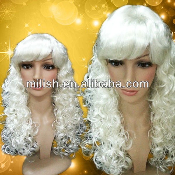 MPW-1053 Party Cheap Curly Blonde Wigs for Halloween