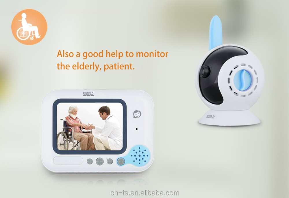 3.2'' color lcd screen digital video baby monitor out of range alert