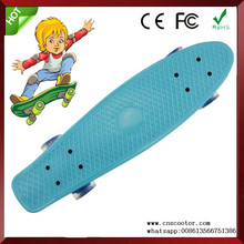 22 retro cruiser style pastel skating board with led wheels for sale