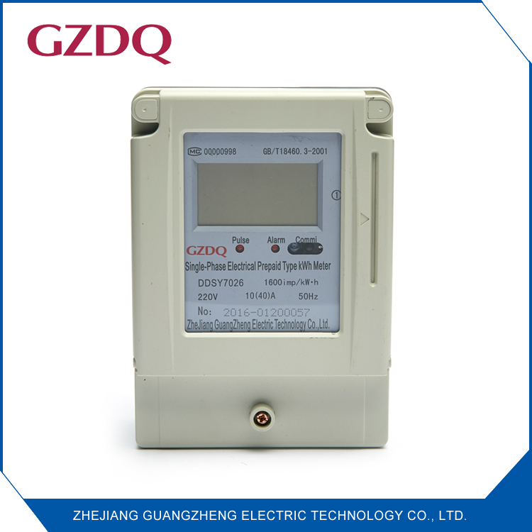 Single phase smart card electric meter digital prepaid energy meter with RS485