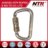 NTR smooth lock D shaped carabiner