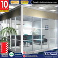 Australia standard double tempered glass soundproof insulated office partition door