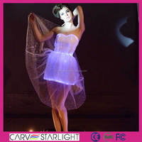 led white light dress/ causual dress wedding dress