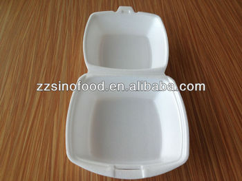 Disposable Plastic Small hamburger (smile face) boxes